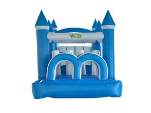 Guangzhou kids blue mini inflatable bouncer with obstacle course  BY-BH-013