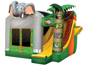 Elephant Inflatable Moonwalk Combo,Bounce House Water Slide For Sale BY-IC-001