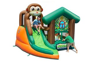 Monkey inflatable combo bouncers house with cheap factory price BY-IC-015