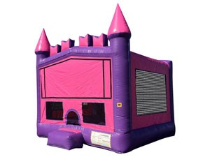 Commercial 13 foot small pink princess inflatable bouncy castle for kids  BY-BH-012
