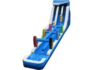Blue Double Land Slip N Slide Giant Inflatable Water Slide BY-SNS-002