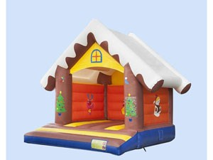 0.55mm pvc tarpaulin inflatable christmas bounce castle house price  BY-BH-014