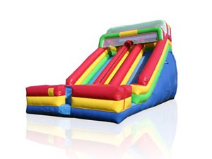 Commercial Red Double Lane Inflatable Slide BY-DS-076
