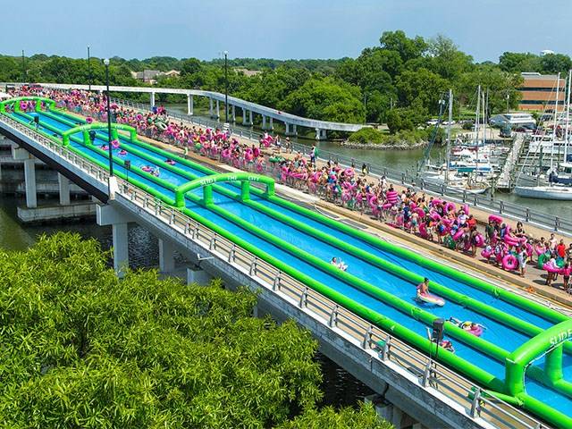 300 Meters Long Giant Inflatable Water Slide The City BY-STC-002