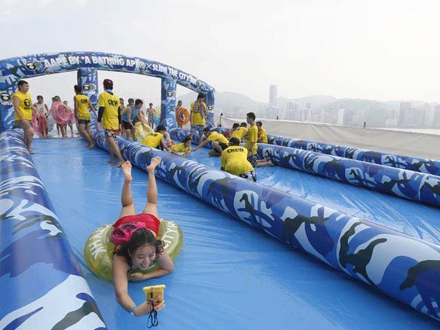 Cmouflage 1000ft Slip N Slide Inflatable Slide The City Manufacturer China BY-STC-023