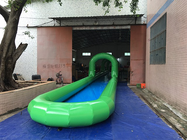 Summer Games 60m Airtech Inflatable Water Slip N Slide , Slide The City Factory BY-STC-020