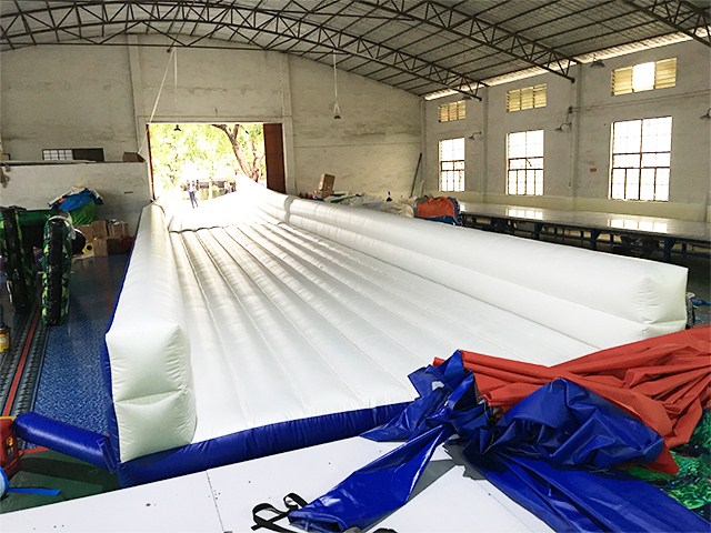 6m Wide or Custom Slip N Slide White Inflatable Slide On The Street BY-STC-019