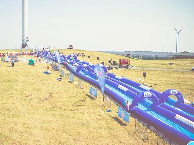 Commercial 1000 ft Slip N Slide Inflatable Slide The City , City Slide For Adult BY-STC-006
