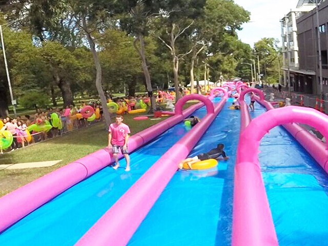 Inflatable City Slide/Slide The City/1000 ft Slip N Slide Inflatable Slide The City BY-STC-003