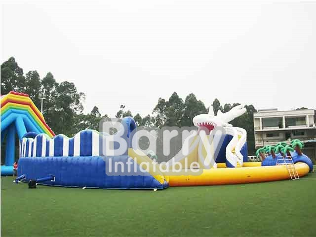 Fun City Shark Inflatable Amusement Park China BY-AWP-034