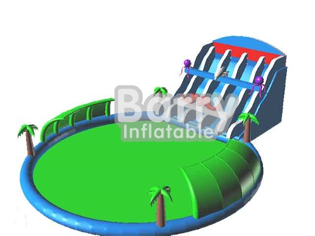 Kids Fun City Seaworld Inflatable Amusement Park Playground Equipment  BY-AWP-002