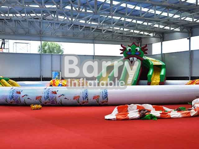 Outdoor Monster Inflatable Amusement Park Equipment Rides For Kids BY-AWP-035