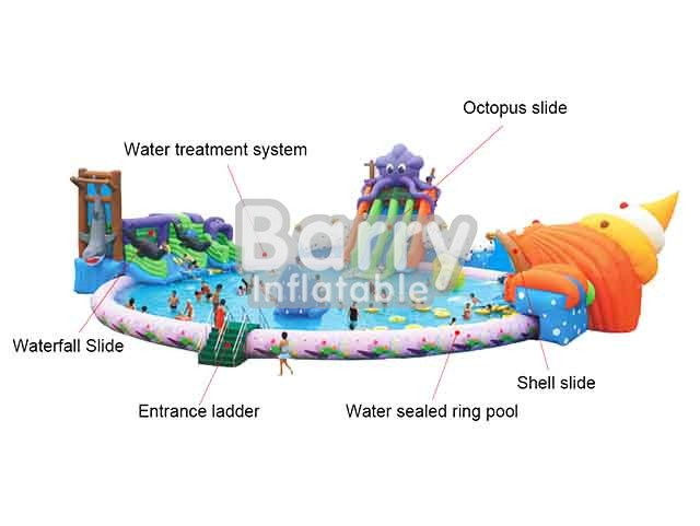 Mobile Octopus And Shell Inflatable Amusement Park Games For Sale BY-AWP-038