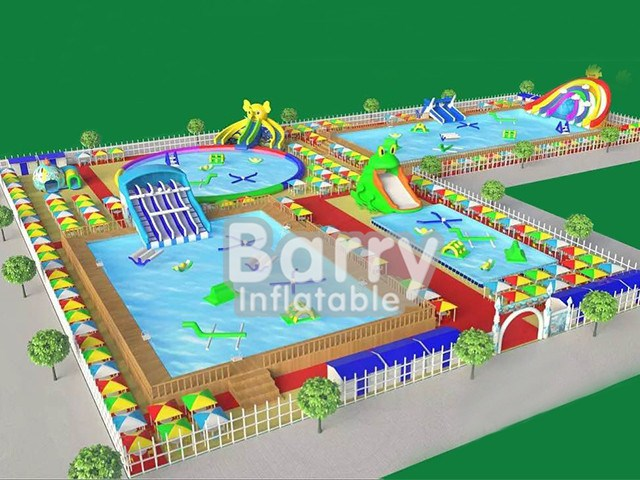 slides water park , giant inflatable amusement park BY-AWP-096