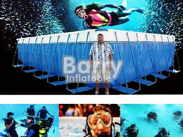 Customized Size Outdoor Metal Frame Pool For Diving BY-SP-011