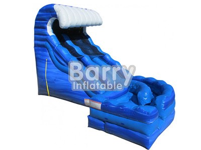 Commercial Cheap Price Blue Curve Wave Inflatable Water Slides For Sale BY-WS-002