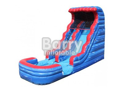 Commercial water slides for sale , blue and red inflatable slide price BY-WS-003