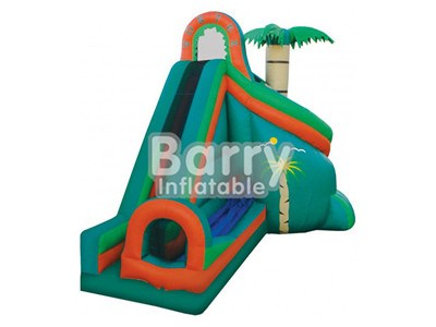 Gunagzhou jungle commercial grade inflatable water slides with tunnel for sale BY-WS-007
