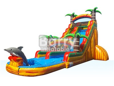 Jungle theme large water slides for sale China manufacturer BY-WS-009