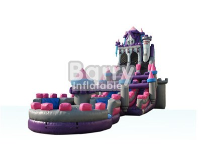 Professional supplier commercial princess castle water slides for sale inflatable BY-WS-010