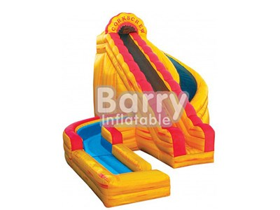 Outdoor playground fire large inflatable water slides with climbing stair for sale BY-WS-015