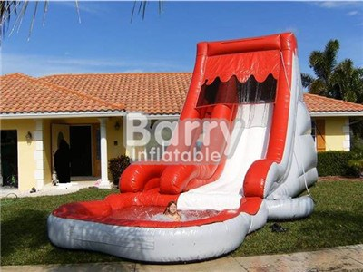 China Vender Good Price For Red And White Big Kid Inflatable WaterBY-WS-038