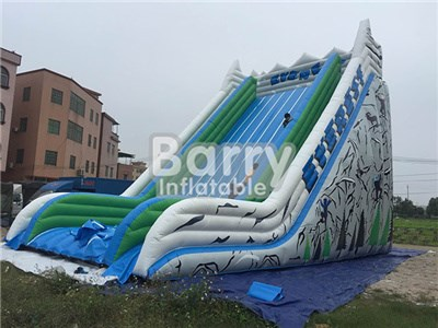 Kids Game Tall Inflatable Cliff Slide , Inflatable Slide For Adult BY-DS-012