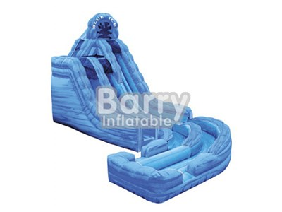 0.55mm PVC Tarpaulin Blue Inflatable Wet or Dry Slide BY-WDS-001