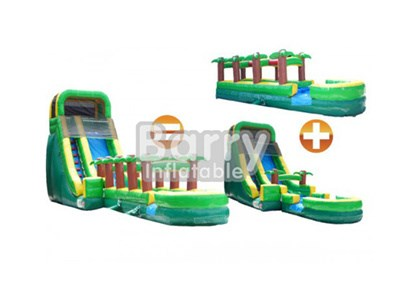 Jungle inflatable wet or dry slide with factory price BY-WDS-003