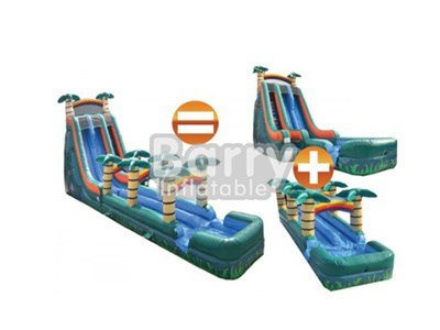 hot sale giant wet or dry slide inflatable Guangzhou BY-WDS-004