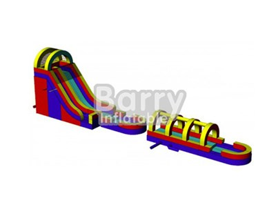 Cheap Price Giant Inflatable Wet or Dry Slide Manufacturer BY-WDS-006
