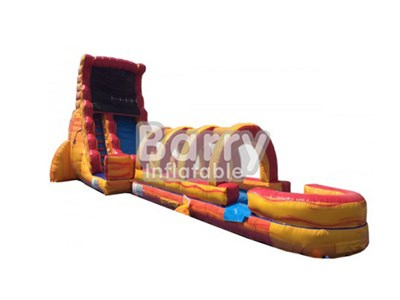 OEM ODM Customized Fire Wet or Dry Slide Inflatable BY-WDS-007