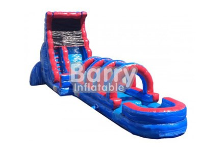 Detachable red and blue inflatable wet or dry slide BY-WD-008