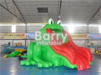 0.55mm PVC Frog Commercial Water Slides For Pools BY-WS-074