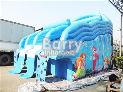 Guangzhou beautiful mermaid inflatable water slide for swimming pool BY-WS-083