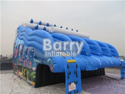 Excellent Full Printing Seaworld Inflatable Water Slide Into Pool Price BY-WS-081