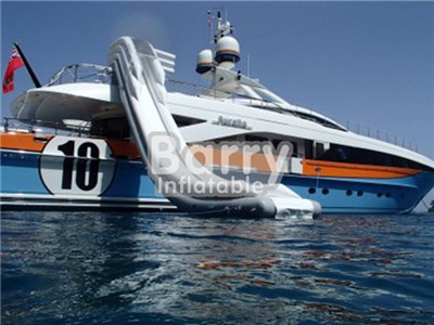 China Inflatable Yacht Floating Water Slide For Sea, Ocean Water Slide For Boat BY-WS-102
