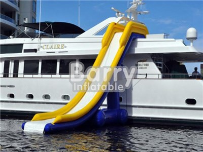 Yacht Water Slide For Sale, Giant Inflatable Water Slide For Adult Water Sports BY-WS-103