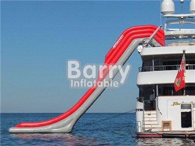 Red Giant Inflatable Water Slide For Yacht , Yacht Inflatable Water Slide BY-WS-105