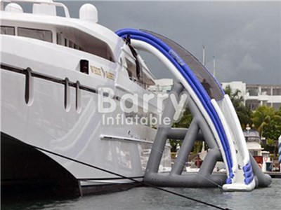 Custom Premium inflatable yacht slide/ Inflatable Water Slide For Boat BY-WS-106