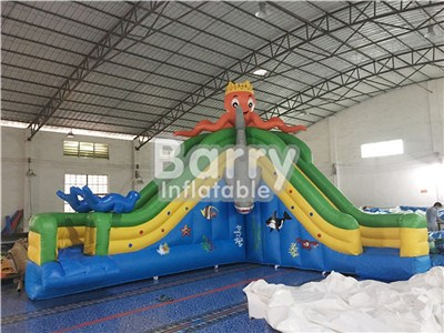 Industrial Octopus Inflatable Water Slides For Pool  BY-WS-071