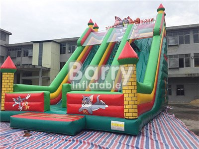 commercial green Tom and Jerry inflatable dry slides for sale BY-DS-003
