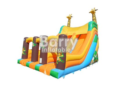 Children size yellow kids giraff bouncy slides for sale BY-DS-075