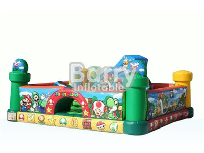 Mario inflatable playland for kids , cheap price for inflatable playgrounds BY-IP-003