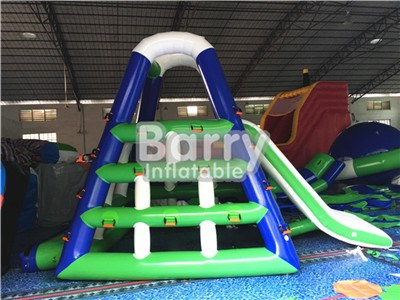Water Sport Green And Blue Inflatable Floating Water Slide For Adults BY-WS-109