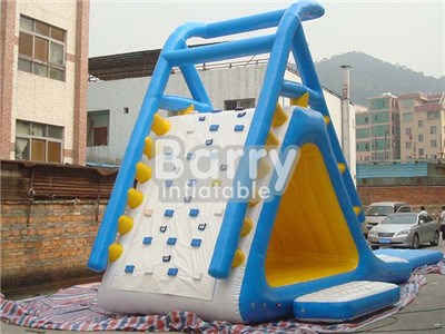 Heat Sealed Inflatable Floating Water Slide,Inflatable Aqua Slide,Lake Inflatable Water Slides BY-WS-111