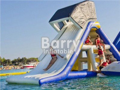 Water Park Inflatable Floating Island Giant Inflatable Water Slide For Adult BY-WS-112