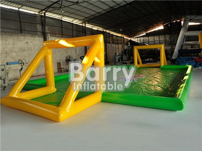 Outdoor Sport Inflatable Soap Football Field , Inflatable Soccer Carnival Game China BY-IS-030