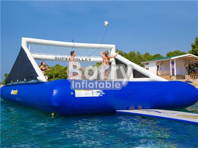 Factory Price Inflatable Volleyball Court For Water , Floating Inflatable Wolleyball Court BY-IS-014