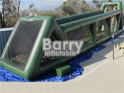 Cheap Price Green Inflatable Zip Line Slide,Long Giant Inflatable Zip Line For Adults  BY-IS-049